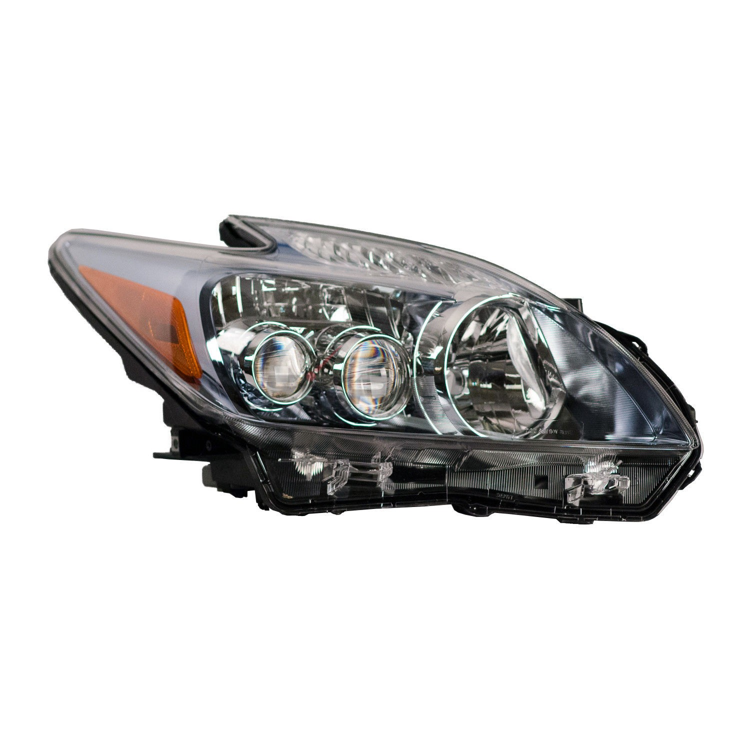 Details About New Right Headlight Embly Led Bulbs For 2010 2017 Toyota Prius To2519140