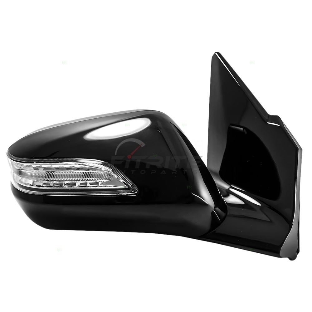 NEW RIGHT SIDE POWER MIRROR SMOOTH BLACK FOR 2010-2013