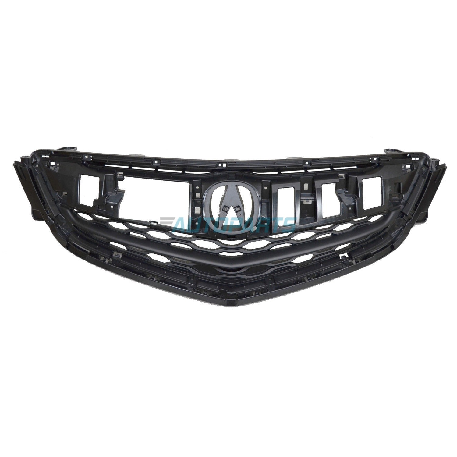 Grille Matte-Black Plastic Fits 2015-2017 Acura TLX